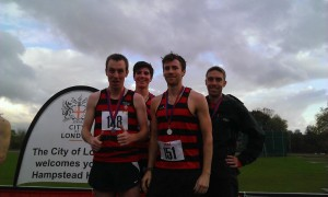 London XC Champs 2014 men's silver medals