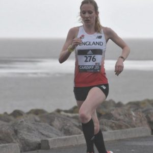 Stacey races for England at Cardiff 2