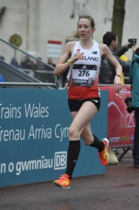 Stacey runs for England in Cardiff